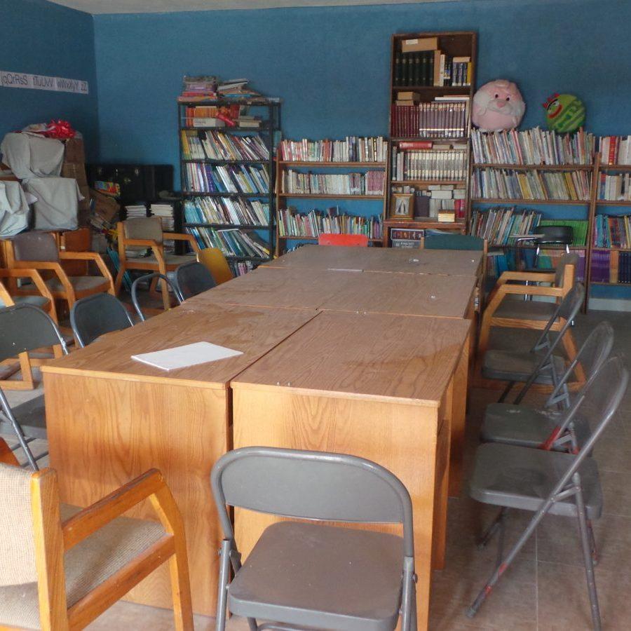 la bibliothèque salle d'activités